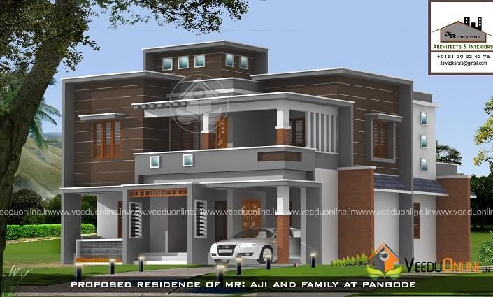 2800 Square Feet Double Floor Modern Contemporary Home Design