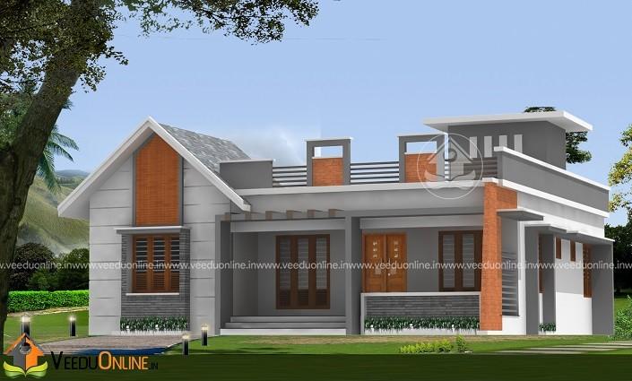 1346 Square Feet Single Floor Contemporary Home Design