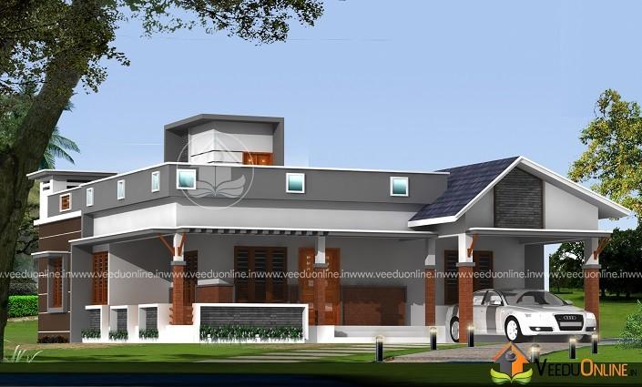 1651 Square Feet Single Floor Contemporary Home Design
