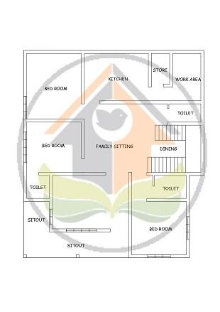 1678 Square Feet Single Floor Contemporary Home Design