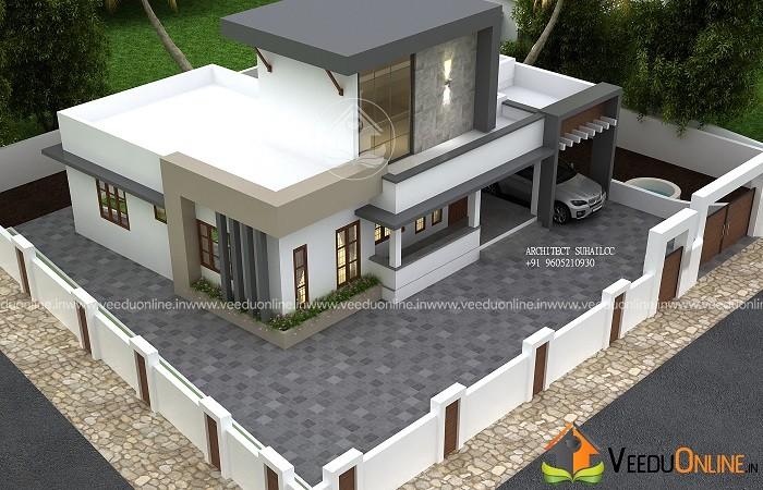 1250 Square Feet Single Floor Contemporary Home Design