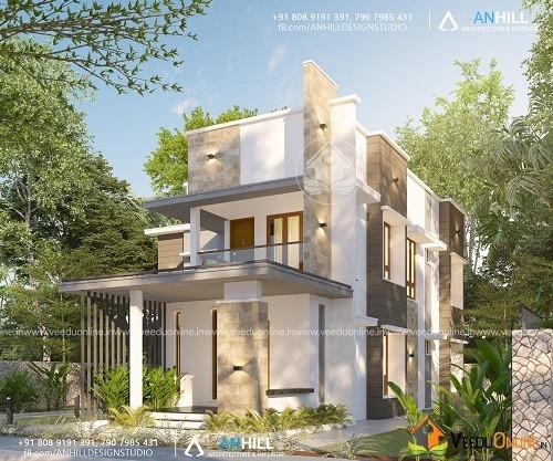 2311 Square Feet Double Floor Contemporary Home Design
