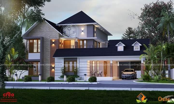 2985 Square Feet Double Floor Contemporary Home Design