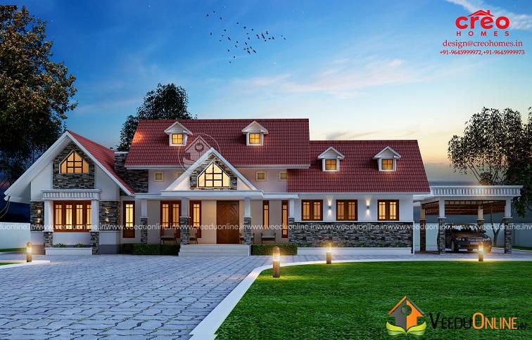 2531 Square Feet Single Floor Contemporary Home Design