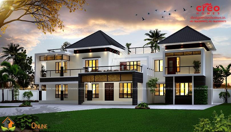 3688 Square Feet Double Floor Contemporary Home Design