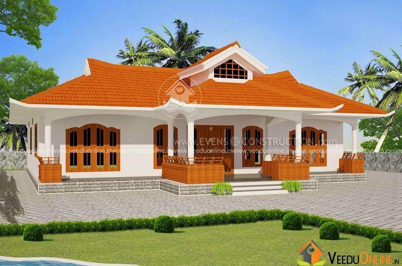2906 Square Feet Single Floor Traditional Home Design