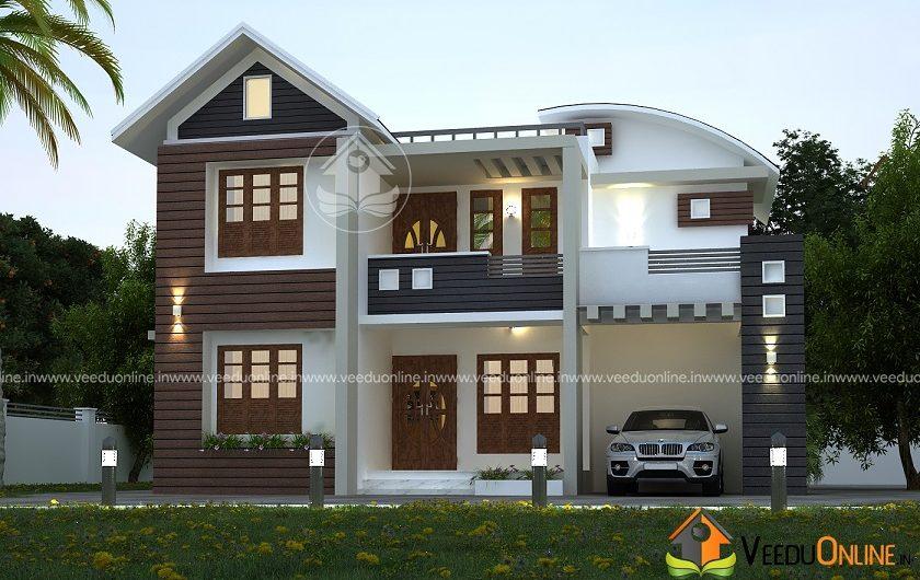 1650 Square Feet Double Floor Contemporary Home Design