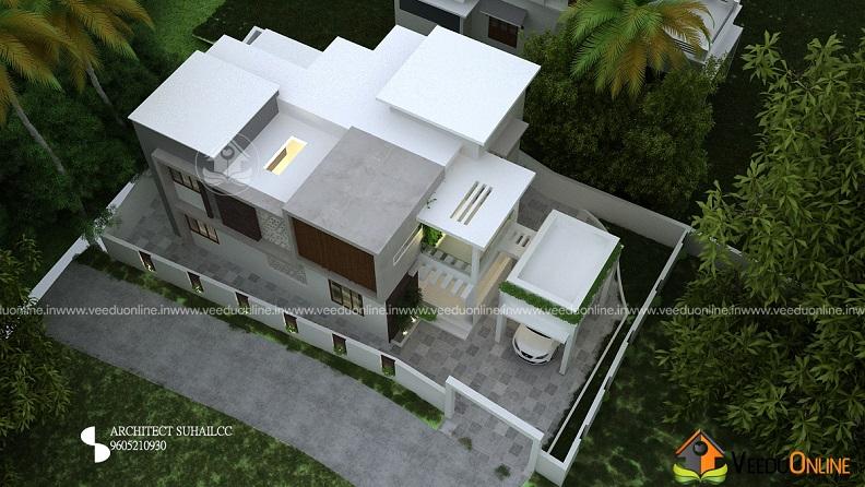 2200 Square Feet 4 BHK Natural Contemporary Home Design