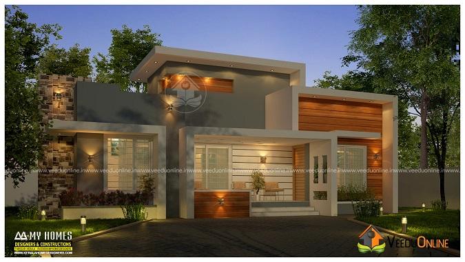800 Square Feet Single Floor Contemporary Home Design