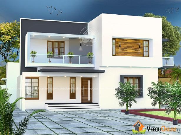 2200 Square Feet Contemporary Double Floor Home Design