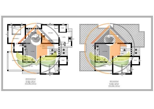 2003 Square Feet Double Floor Modern Home Design