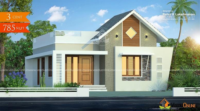 785 Square Feet Contemporary Single Floor Home Design