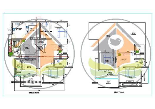 2370 Square Feet Double Floor Contemporary Home Design