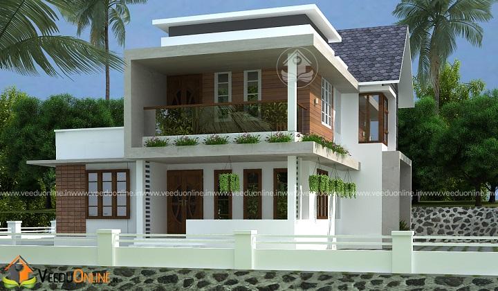 1500 Square Feet Double Floor Classic Home Design