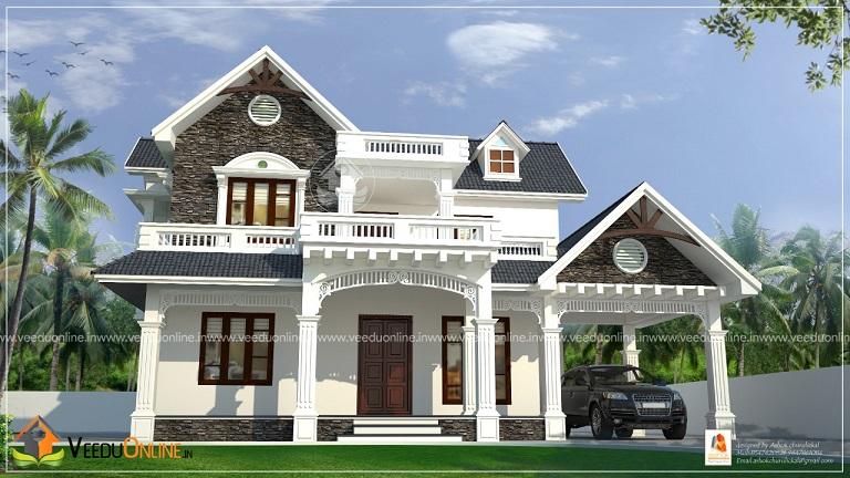 2276 Square Feet Double Floor Contemporary Home Design