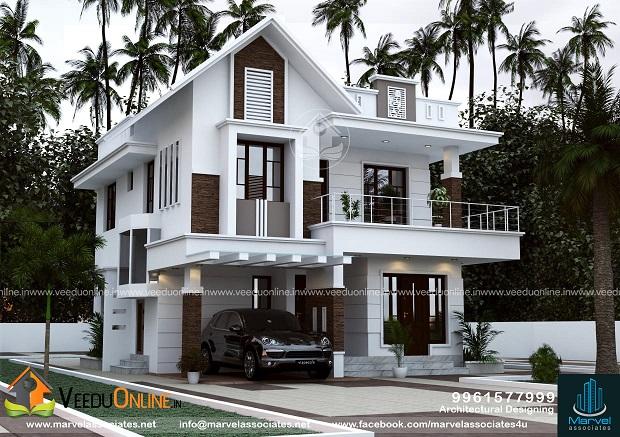 1480 Square Feet Double Floor Contemporary Home Design
