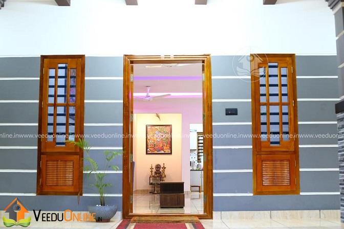 1431 Square Feet Single Floor Traditional Home Design