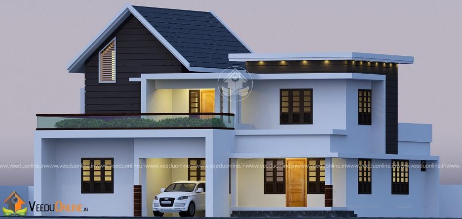 2300 SqFt Double Floor Contemporary Home Design