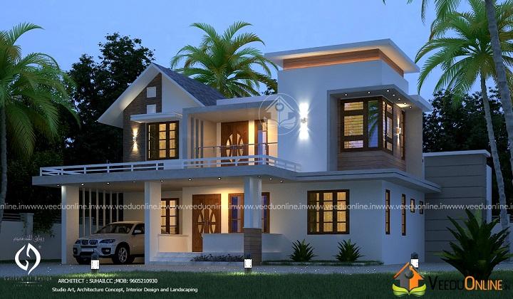 2100 Square Feet Double Floor Classic Home Design
